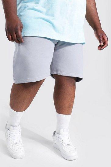 Slate grey Plus Size Ombre Detail Tie Dye Jersey Shorts