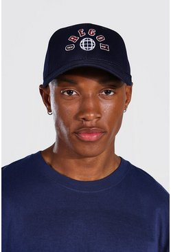 Navy Oregon Curved Peak Cap