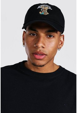 Black Teddy Embroidered Dad Cap