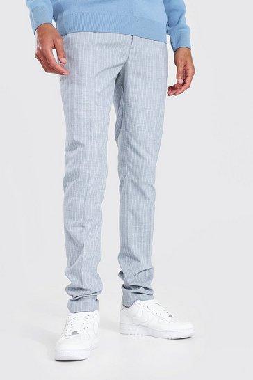 Grey Tall Skinny Pinstripe Trouser