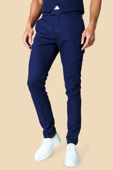 Navy Tall Skinny Smart Trouser
