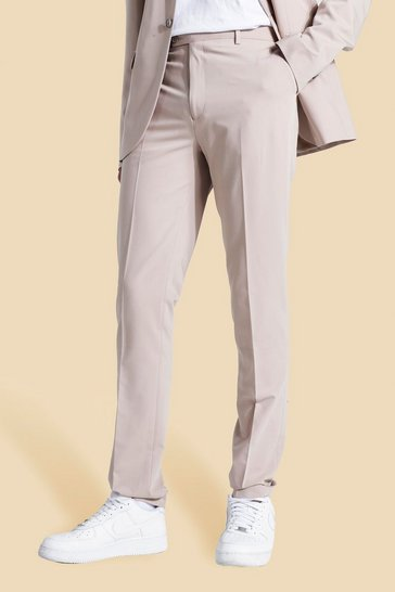 Ecru white Tall Skinny Suit Trousers