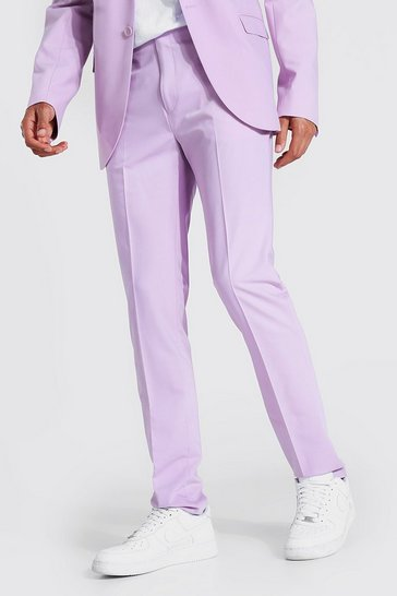 Lilac purple Tall Skinny Suit Trousers