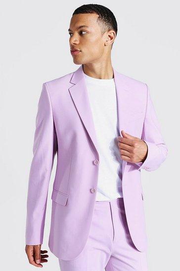 Lilac purple Tall Skinny Single Breasted Suit Jacket