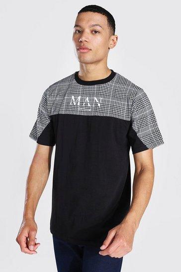 Black Tall Man Muscle Fit Jacquard T-shirt