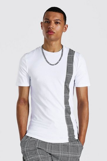 White Tall Man Muscle Fit Jacquard T-shirt