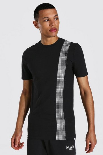 Black Tall Man Jacquard Muscle Fit T-shirt