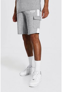 Tall Man Roman Cargo Short, Grey marl gris
