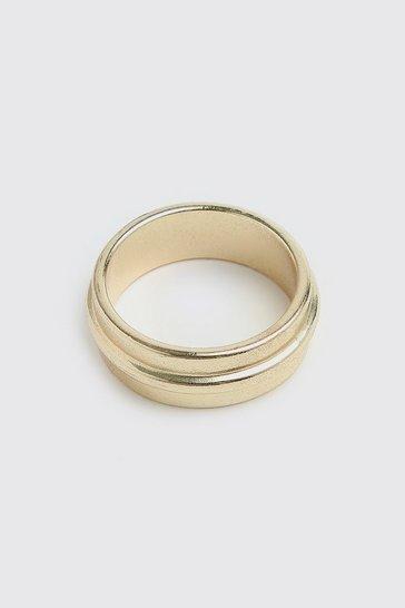 Gold metallic Piping Detail Ring