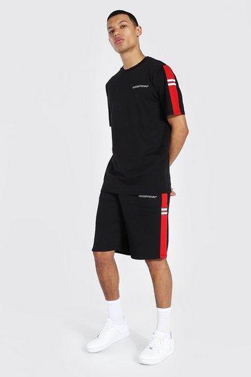 Black Tall Official T-shirt Short Set