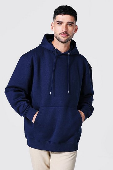 Navy Recycled Oversized Hoodie