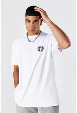Oversized Ofcl Crew Neck T-shirt, White blanc