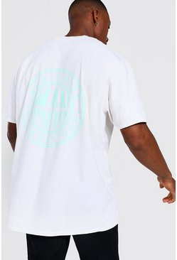Ecru white Oversized Man Worldwide Overdye T-shirt