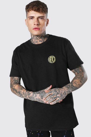 Black Oversized Ofcl Crew Neck T-shirt