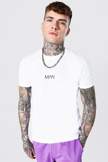 White Original Man Crew Neck T-shirt