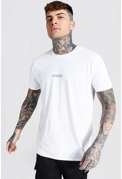 White Official Outline Logo T-shirt