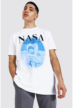 White Oversized Nasa Astronaut License T-shirt