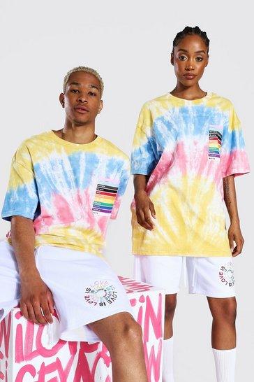 Multi Pride Tie Dye Rainbow Box Print T-shirt