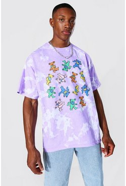Purple lila Oversized Grateful Dead Tie Dye T-shirt