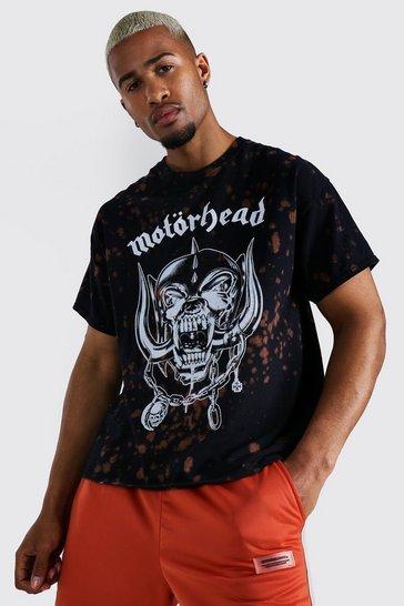 Black Oversized Motorhead Tie Dye License T-shirt