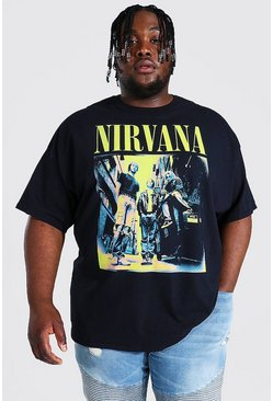 Black Plus Size Nirvana Cover License T-shirt
