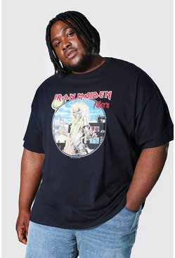 Black Plus Size Iron Maiden Killers License T-shirt