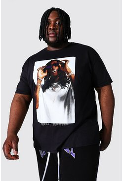 Black Plus Size Wiz Kalifa Box License T-shirt