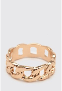 Gold metallic Mini Chain Ring