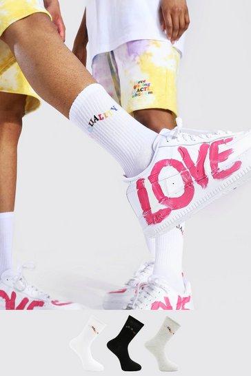 Multi Pride 3pk Equality Sport Socks