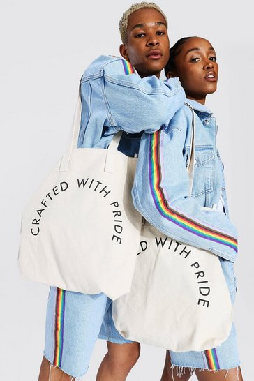 White Pride Crafted Tote Bag