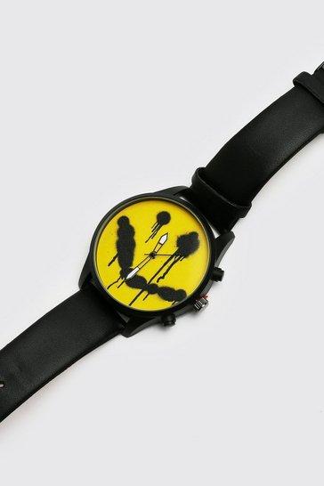 Black Graffiti Face Watch