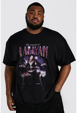 Black Plus Size Aaliyah License T-shirt