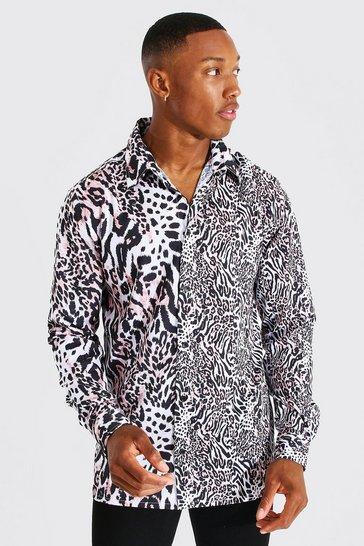Multi Long Sleeve Leopard Shirt