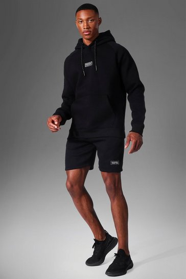 Black Man Active Training Hoodie And Short Se