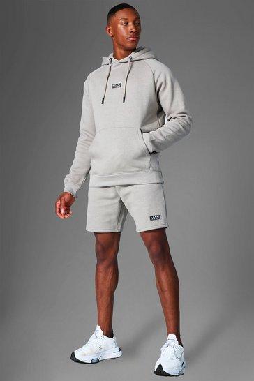 Taupe beige Man Active Training Hoodie & Short Set