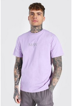 Lilac purple Original Man Crew Neck T-shirt