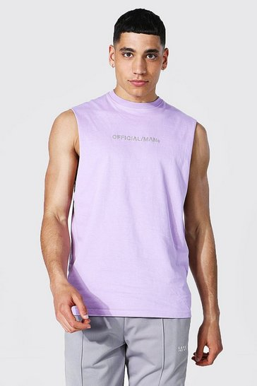 Lilac purple Official Man Drop Armhole Tank