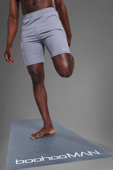 Sage green Man Active Yoga Shorts