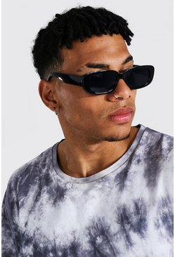 Black Soft Rectangle Sunglasses