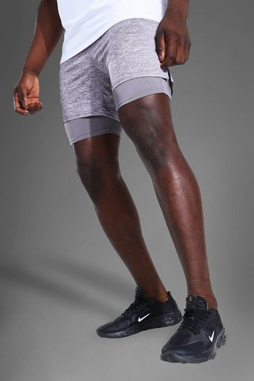 Grey Man Active Lightweight Marl 2-in-1 Short