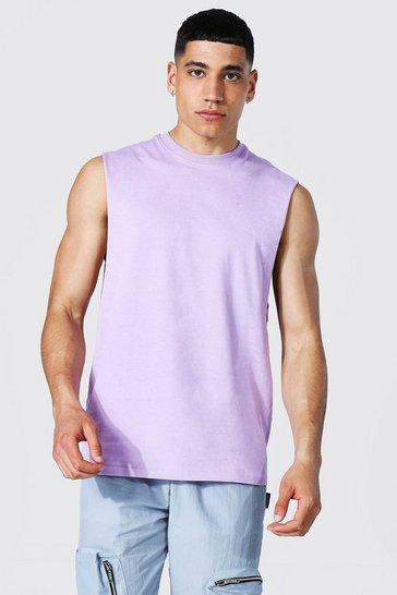 Lilac purple Drop Armhole Tank