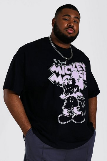 Black Plus Size Mickey Mouse License T-shirt