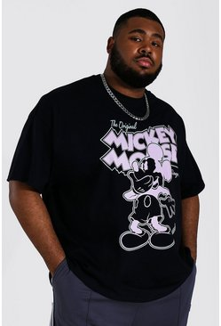 Plus Size Mickey Mouse T-Shirt, Black schwarz