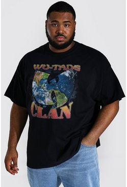 Black Plus Size Wu-tang Clan License T-shirt