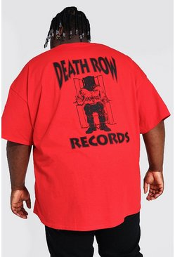 Red Plus Size Death Row Front & Back License Tee