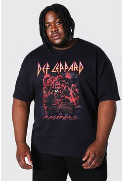 Plus Size Def Leppard License T-shirt, Black Чёрный