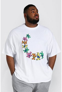 White Plus Size Gelicenseerd Grateful Dead T-Shirt
