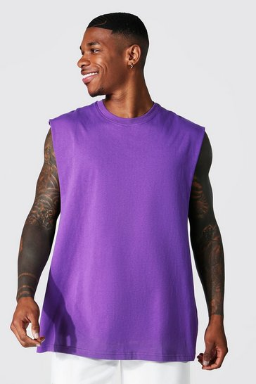 Purple Oversized Drop Armhole Tank