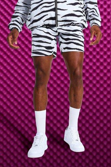 Black Zebra Print Short