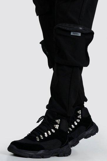 Black Chunky Hiker Boot